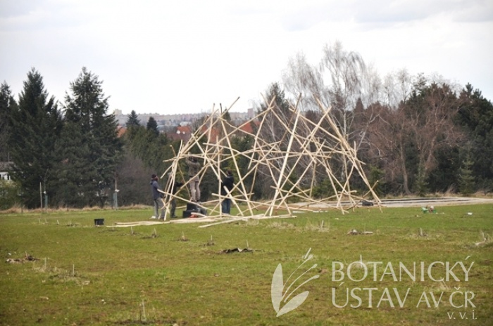 Výstavba výstavního objektu na centrální louce